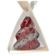 EGS 015 Czekoladowe dekoracje choinkowe w torebce z kokardką